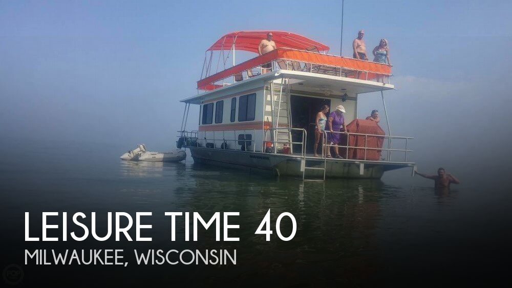 Used Houseboats For Sale in Wisconsin by owner | 1991 Leisure Time 40