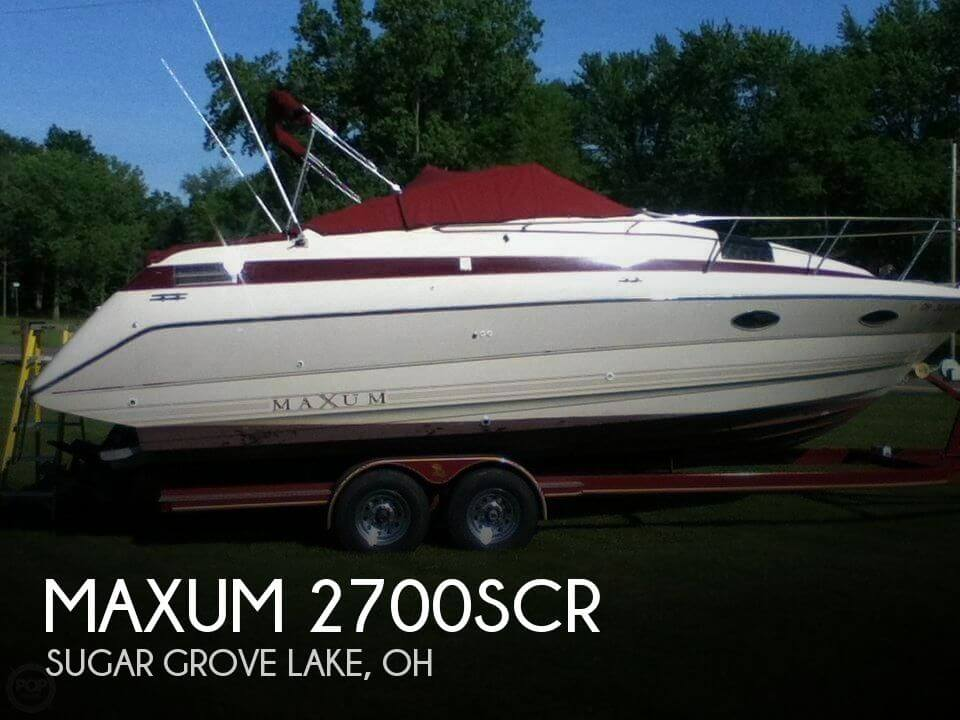 Used Boats For Sale in Columbus, Ohio by owner | 1990 Maxum 2700SCR