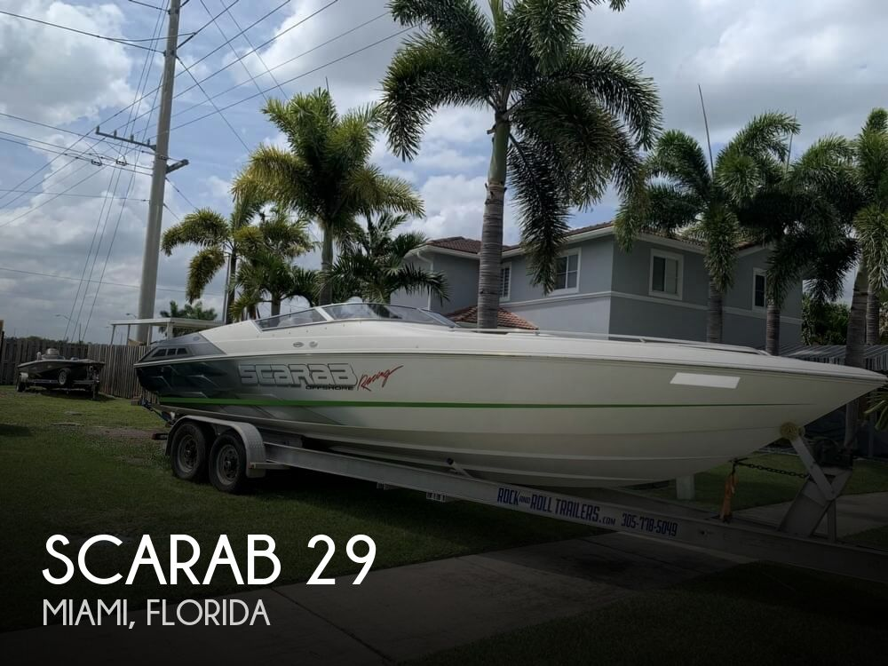 1998 Scarab boat for sale, model of the boat is 29 & Image # 1 of 40