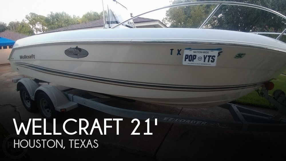 2002 WELLCRAFT 210 FISHERMAN TOURNAMENT EDITION for sale