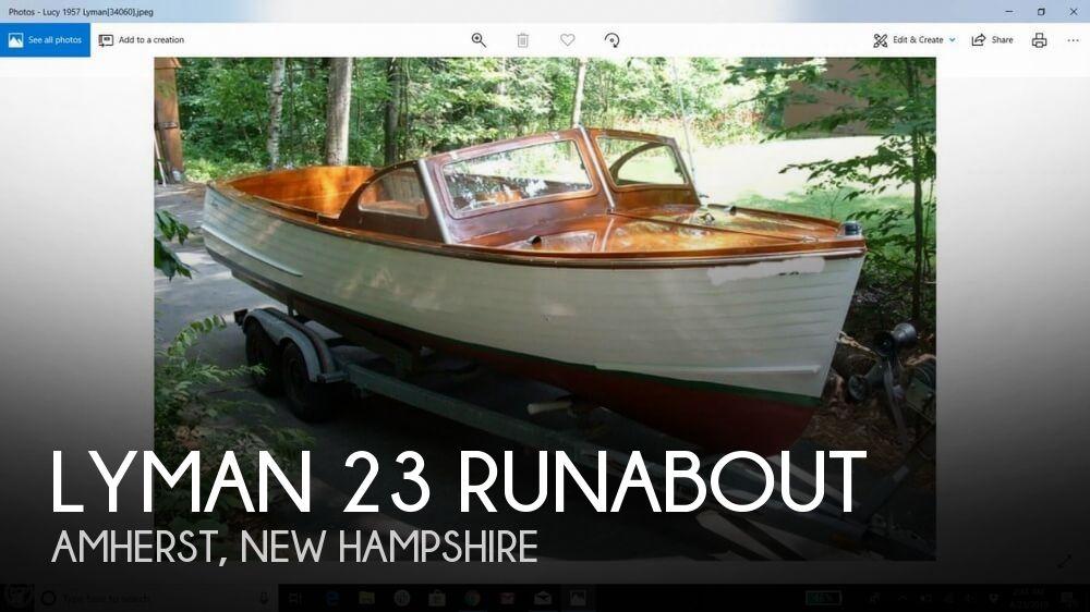 1957 Lyman 23 Runabout