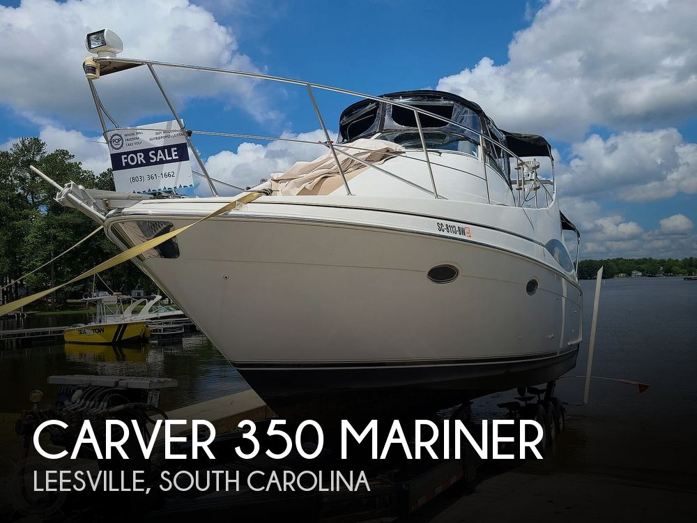 1998 Carver boat for sale, model of the boat is 350 Mariner & Image # 1 of 40