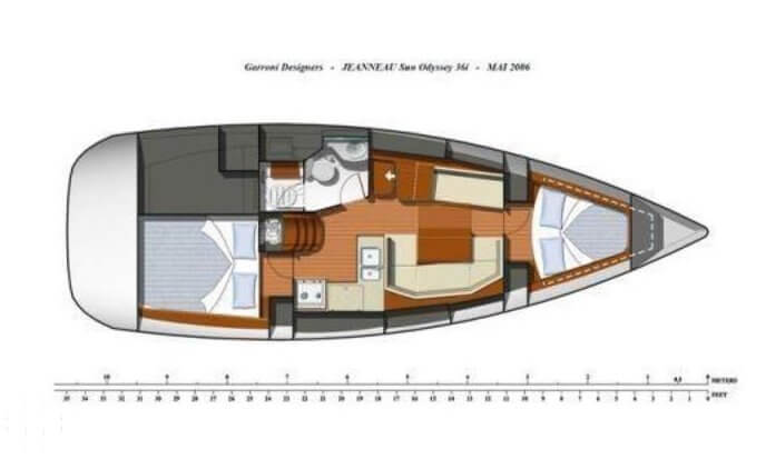 2008 Jeanneau boat for sale, model of the boat is Sun Odyssey 36i & Image # 20 of 39