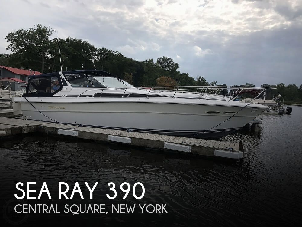 1989 Sea Ray boat for sale, model of the boat is 390 Express Cruiser & Image # 1 of 40