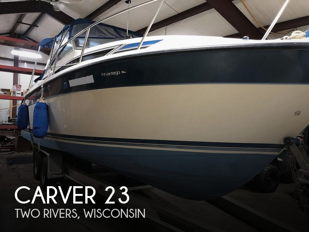 1989 Carver boat for sale, model of the boat is 23 Montego Mid Cabin & Image # 1 of 41