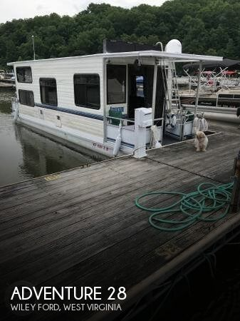 Used Boats For Sale in West Virginia by owner | 1996 Adventure Houseboat 28
