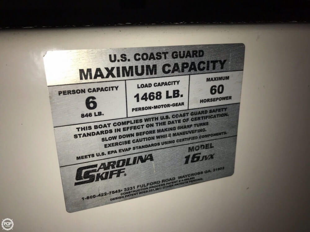 2012 Carolina Skiff boat for sale, model of the boat is 16JVX & Image # 18 of 40