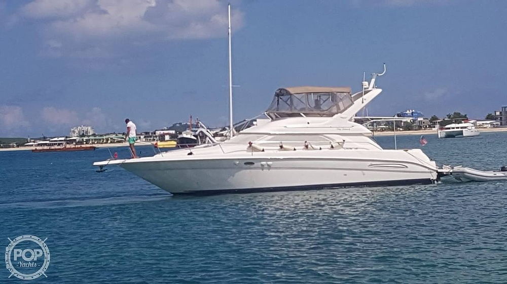 1999 Sea Ray boat for sale, model of the boat is 450 Express Bridge & Image # 36 of 41