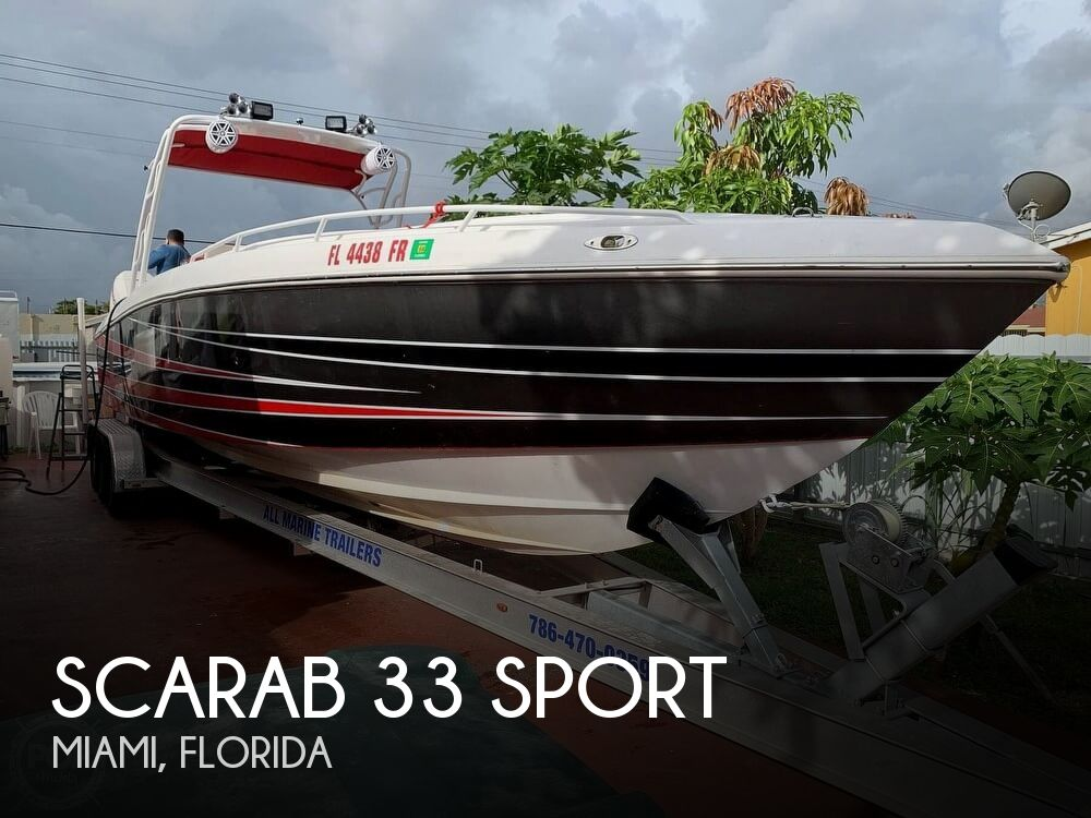 Used Scarab Boats For Sale by owner | 1987 Scarab 33