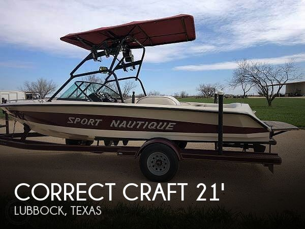 Used Boats For Sale in Lubbock, Texas by owner | 1997 21 foot Correct Craft Sport Nautique