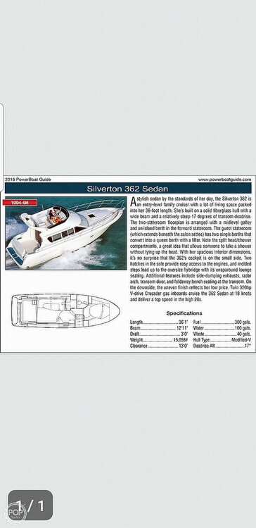 1994 Silverton boat for sale, model of the boat is 362 Sedan & Image # 18 of 40