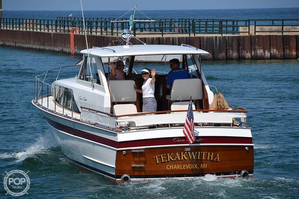 1966 Chris Craft boat for sale, model of the boat is 37 Constellation & Image # 2 of 40