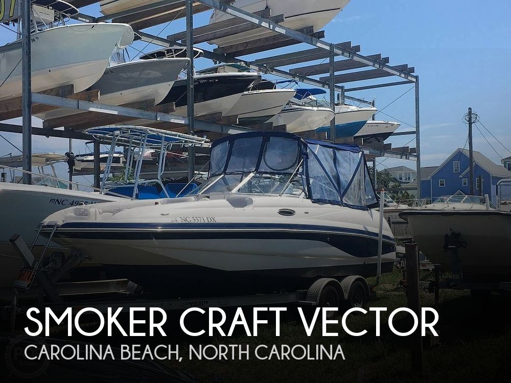 Used Deck Boats For Sale in North Carolina by owner | 2004 24 foot Smoker Craft Vector