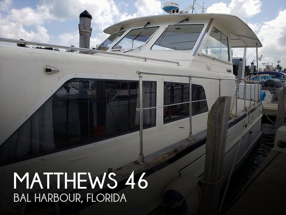 1973 Matthews boat for sale, model of the boat is 46 Motoryacht & Image # 1 of 40