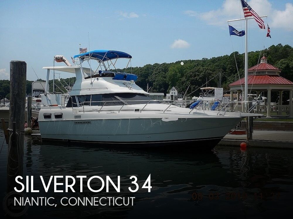 1994 SILVERTON 34 CONVERTIBLE AFT CABIN for sale