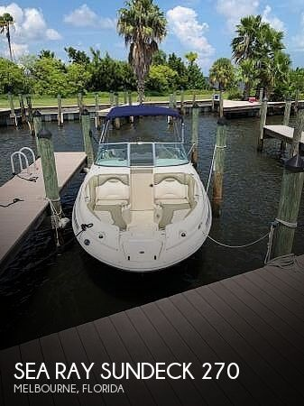 Used Sea Ray Sundeck 270 Boats For Sale by owner | 2005 Sea Ray Sundeck 270