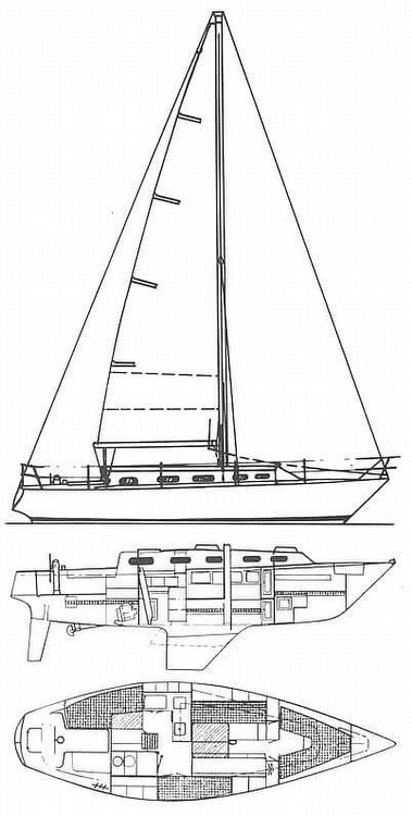 1979 Hunter boat for sale, model of the boat is 33 & Image # 4 of 40