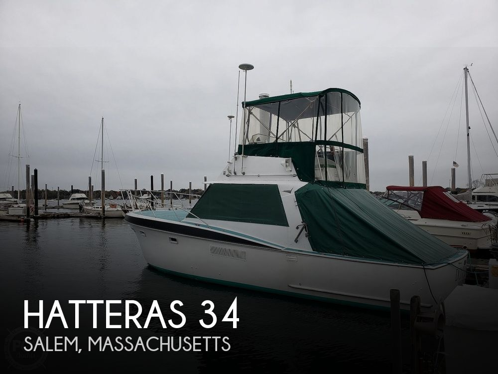 1967 Hatteras boat for sale, model of the boat is 34 Convertible & Image # 1 of 40