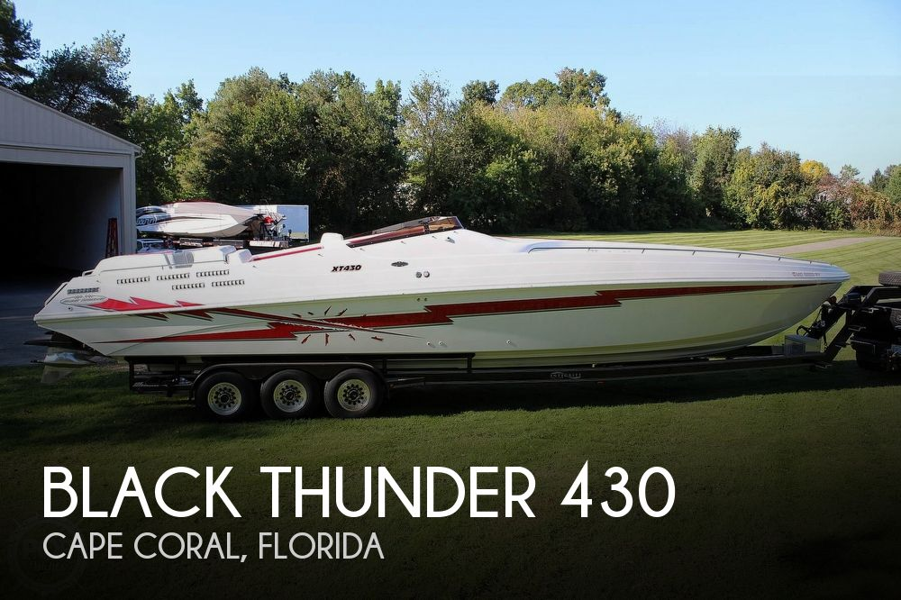 1996 Black Thunder boat for sale, model of the boat is XT 430 & Image # 1 of 40