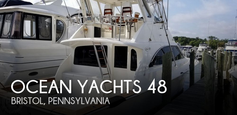 Used Boats For Sale in Trenton, New Jersey by owner | 1999 Ocean Yachts 48 Super Sport