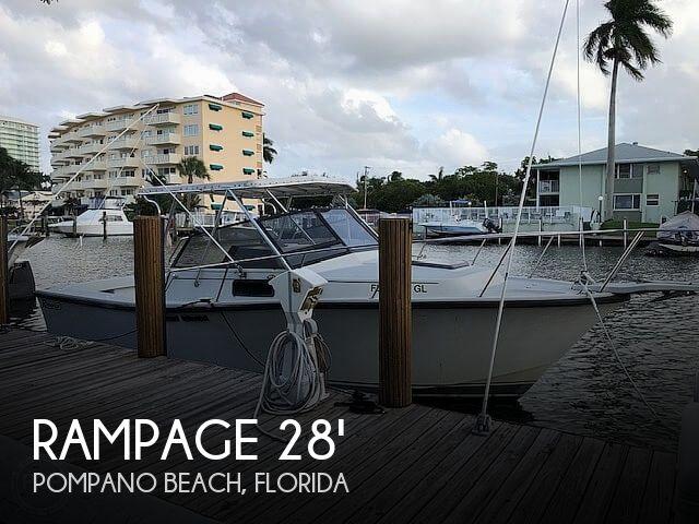 Used Rampage Boats For Sale by owner | 1989 Rampage 28 Sportsman