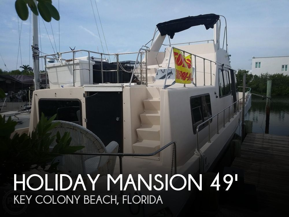 Used Holiday Mansion Houseboats For Sale by owner | 1990 Holiday Mansion Coastal Commander 490