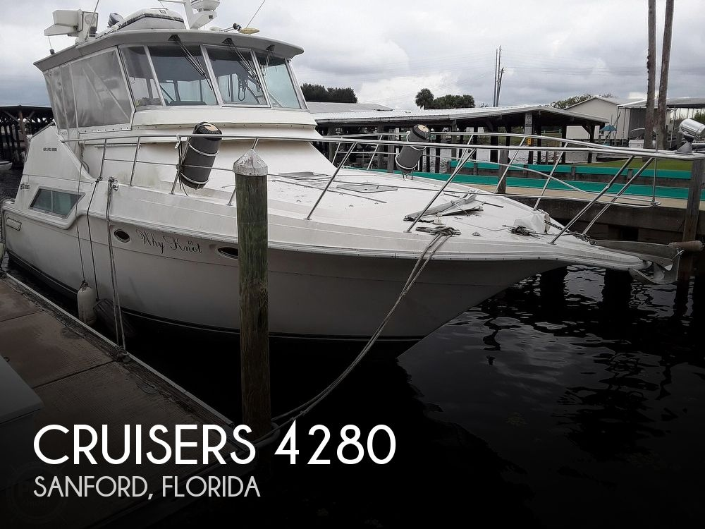 1989 Cruisers Yachts boat for sale, model of the boat is 4280 Express Bridge & Image # 1 of 40