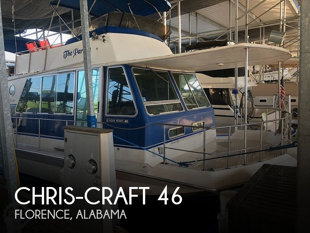 Used Houseboats For Sale in Alabama by owner | 1984 Chris-Craft 46 Aqua Home