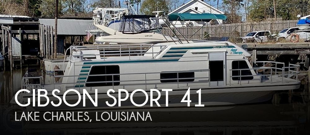Used Houseboats For Sale in Beaumont, Texas by owner | 1995 Gibson Sport 41
