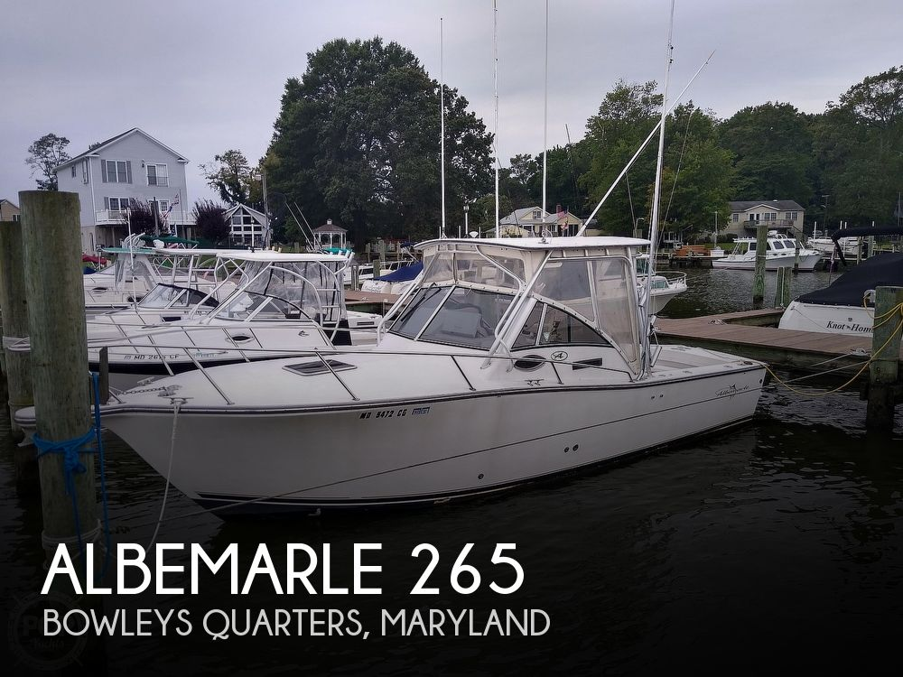 2002 Albemarle boat for sale, model of the boat is 265 Express Fisherman & Image # 1 of 40