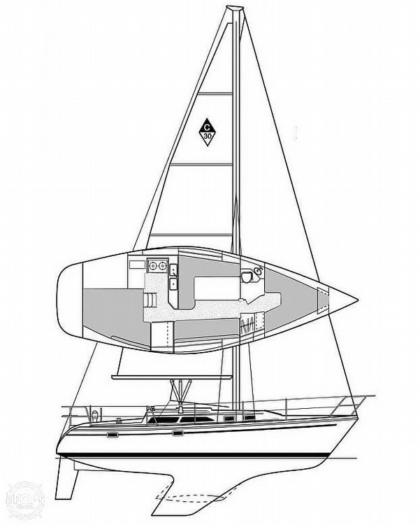 1997 Catalina Yachts boat for sale, model of the boat is 30 MKIII & Image # 7 of 40