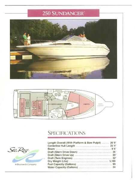 1989 Sea Ray 250 Sundancer - Photo #3