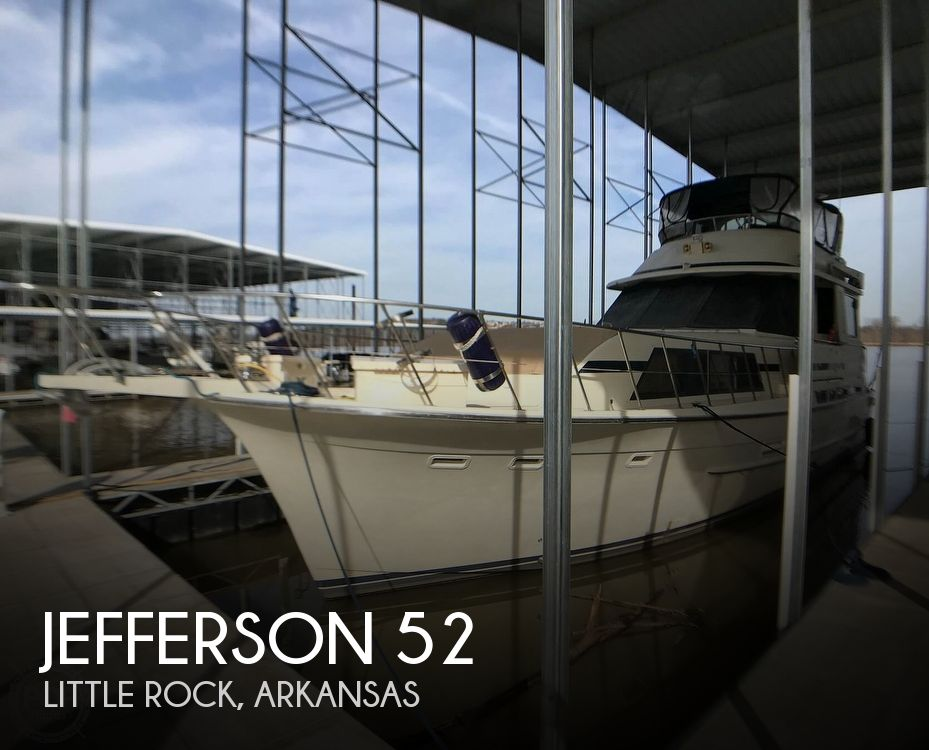 1987 Jefferson boat for sale, model of the boat is Monticello 52 & Image # 1 of 40
