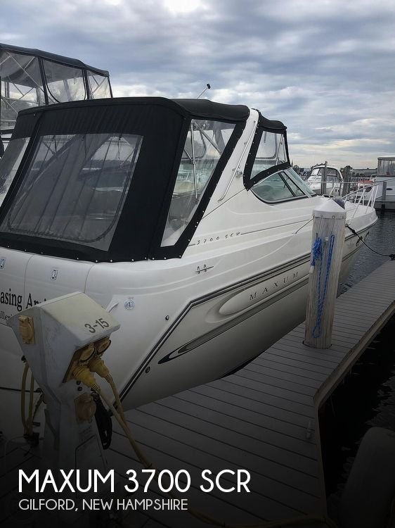 1998 Maxum boat for sale, model of the boat is 3700 SCR & Image # 1 of 40
