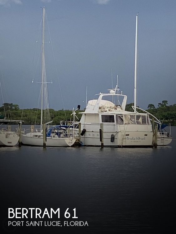 Used Boats For Sale in Port St. Lucie, Florida by owner | 1970 Bertram 61