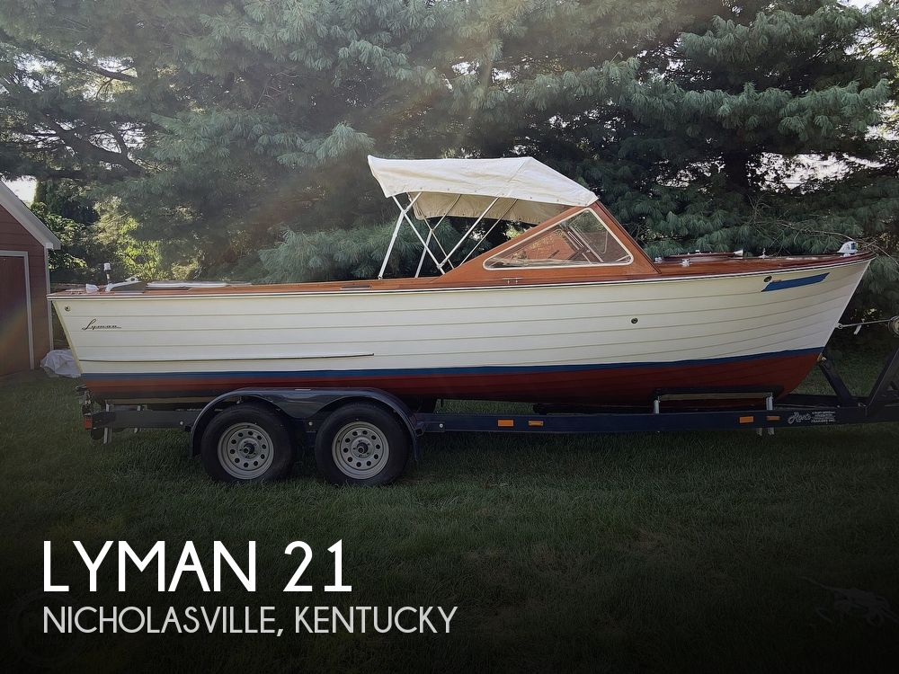 1965 Lyman boat for sale, model of the boat is 21 Inboard-Outboard & Image # 1 of 40