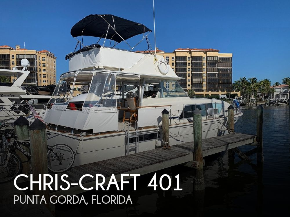 1973 Chris Craft boat for sale, model of the boat is 401 Commander & Image # 1 of 40