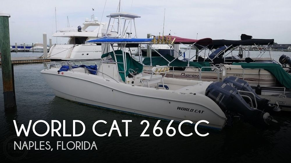 2001 World Cat boat for sale, model of the boat is 266CC & Image # 1 of 40