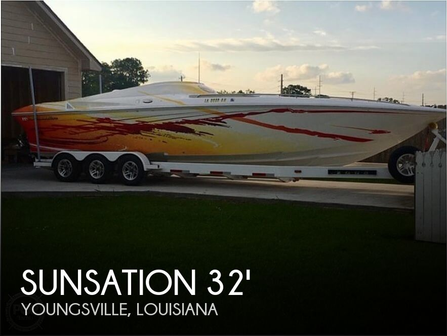Used Sunsation Boats For Sale by owner | 2008 32 foot Sunsation Dominator SS Mid Cabin Open Bo