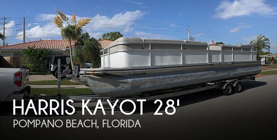 Used Pontoon Boats For Sale in Florida by owner | 1999 Harris Kayot 28 Classic