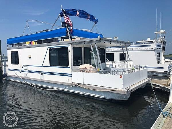 2007 Catamaran boat for sale, model of the boat is 42 Vagabond & Image # 3 of 40