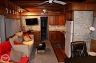 Curtains And High-end Granite Countertops Throughout The Vessel