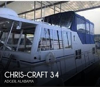 Used Houseboats For Sale in Alabama by owner | 1973 Chris-Craft 34 Aqua Home