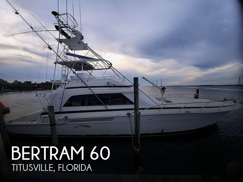 1991 Bertram boat for sale, model of the boat is 60 Convertible & Image # 1 of 40