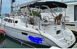 2001 Hunter boat for sale, model of the boat is 340 & Image # 14 of 17