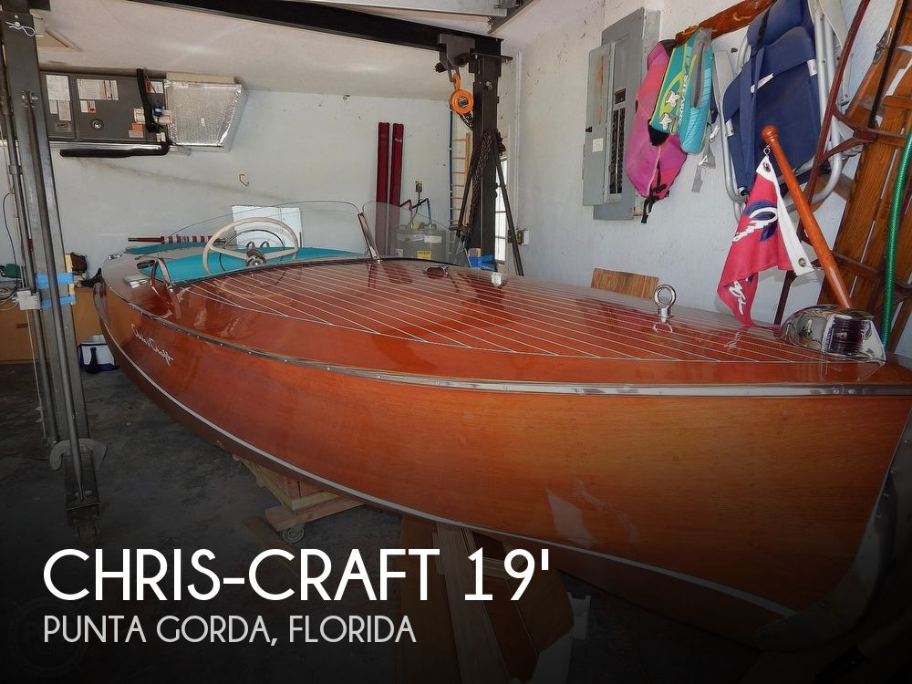 Used Ski Boats For Sale in Florida by owner | 1950 19 foot Chris-Craft Racing Runabout