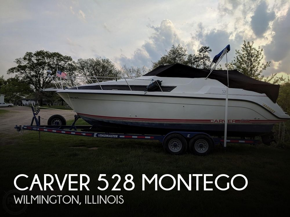 1990 Carver boat for sale, model of the boat is 528 Montego & Image # 1 of 21
