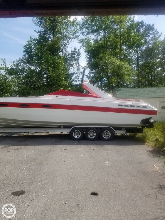 1986 Chris Craft boat for sale, model of the boat is 415 Stinger & Image # 2 of 40