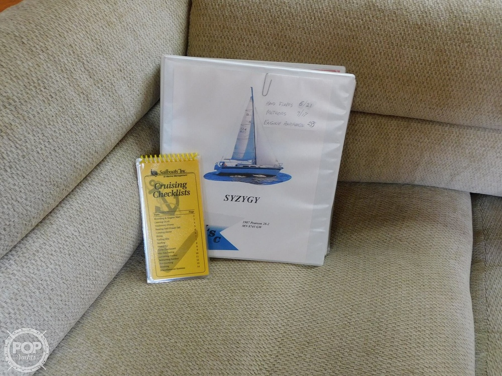 1987 Pearson boat for sale, model of the boat is 28-2 & Image # 9 of 25