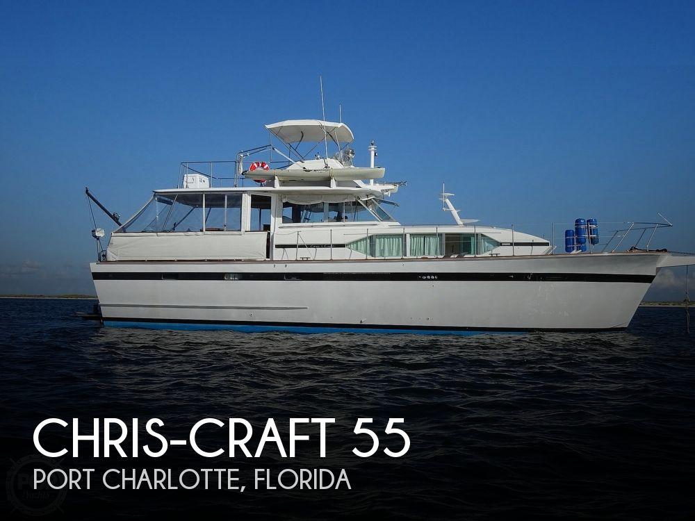 1974 CHRIS CRAFT 55 ROAMER FLUSH DECK MY for sale